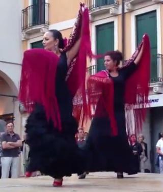 Flamenco in piazza Matteotti foto